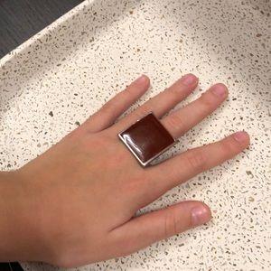 Jewelry - Dark red adjustable ring